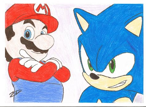 Mario And Sonic By 2dchew On Deviantart