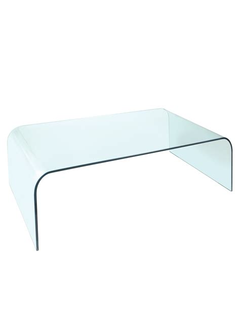 coffee tables glass coffee tables arc clear glass coffee table by greenapple glassdomain