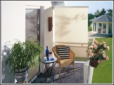 Sichtschutz Balkon Seitlich Pflanzen  Balkon  House Und