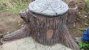 Beton Im Garten : alte regentonne im garten als baumstumpf verkleiden youtube ~ Markanthonyermac.com Haus und Dekorationen