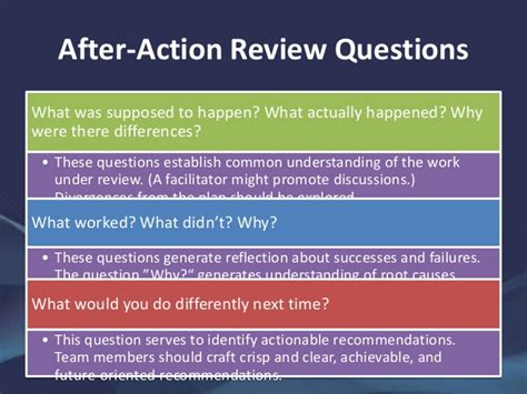 after action review a guide to after reviews and retrospects