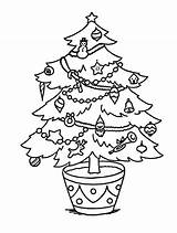 Tree Coloring Christmas Sheets Pages Holidays Happy Clip Sheet Decorating Adults sketch template