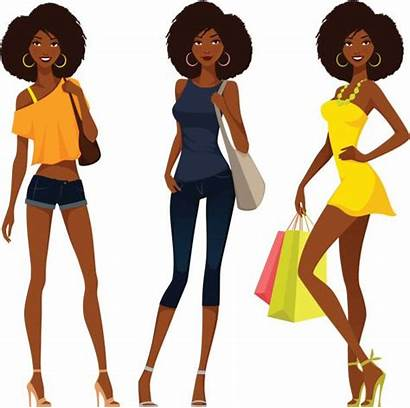 African American Clipart Vector Illustration Summer Outfits