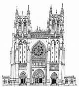 Cathedral Gothic Drawing Drawings Sketch Coloring Wiltshire Stephen Paul Printablecolouringpages Larger Credit Peter sketch template