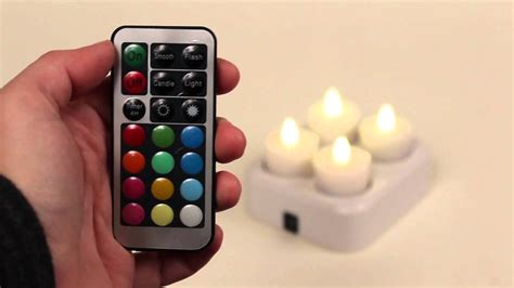 Set Of 4 Remote Control Colorchanging Led Rechargeable