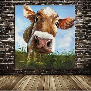 Kuh Bilder Auf Leinwand : iplst moderne cartoon niedlichen tier kuh gras essen ~ Whattoseeinmadrid.com Haus und Dekorationen