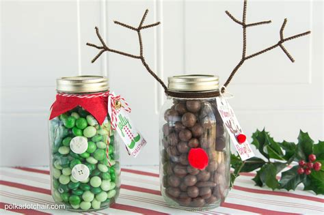 christmas jar gifts reindeer christmas mason jar gift idea