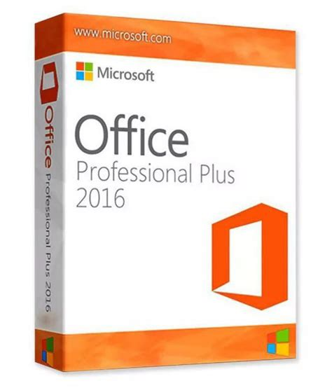 microsoft office microsoft office 2016 pro plus 32 64 bit activation card