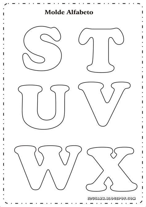 educar x modelo de letras para cartaz