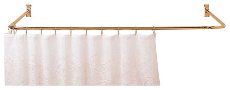 shower curtain rod bright 3 sided solid brass
