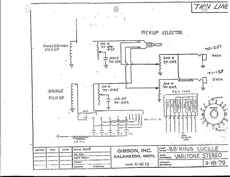 Gibson B Wiring Diagram need bb king wiring diagram