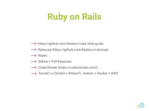 github pull request template meetup code quality tools used at wolox for web developing