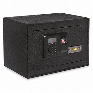 Stanley Solid Steel Biometric Personal Home Safe With Fast