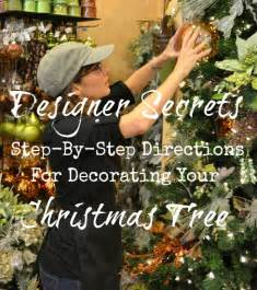 how to step by step designer 39 s tree decorating worthing court