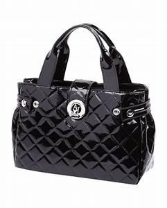 Taschen Zwei Reduziert : handtasche in lack optik mit metall logo ~ Buech-reservation.com Haus und Dekorationen