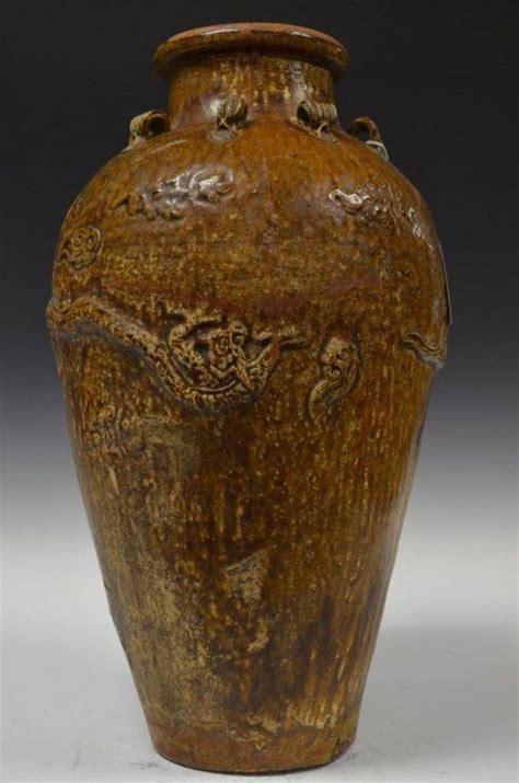antique brown glaze porcelain jar jan   holly