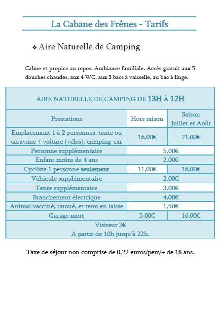 tarif chambre 駻aire tarifs chambres d 39 hôtes et cing en charente maritime 17