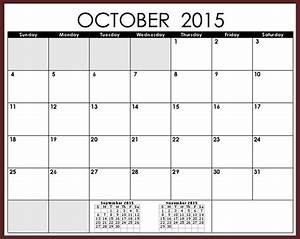 october 2015 calendar with holidays printable 2017 With 2015 monthly calendar template with holidays