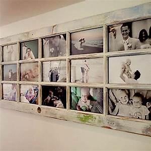 Créer Un Cadre Photo : r utilisez une vieille porte fen tre en bois pour cr er un cadre photo g ant frames ~ Melissatoandfro.com Idées de Décoration