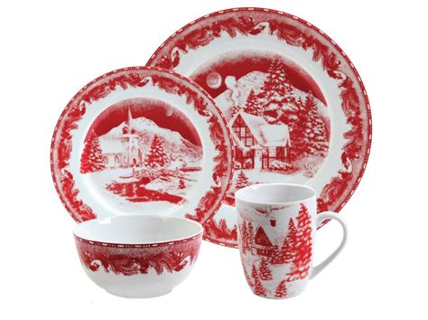 gibson winter cottage dinnerware  log homes