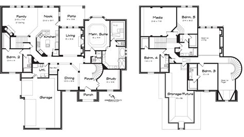 2 floor plans with garage two house plans without garage house design plans