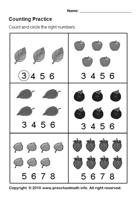 number worksheets kindergarten grade one learn numbers to