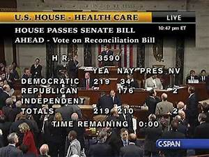 House Passes Senate Health Care Bill - YouTube