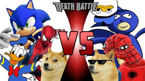 Sonic Spiderman Donald Duck And Doge Vs Sanic Spoderman