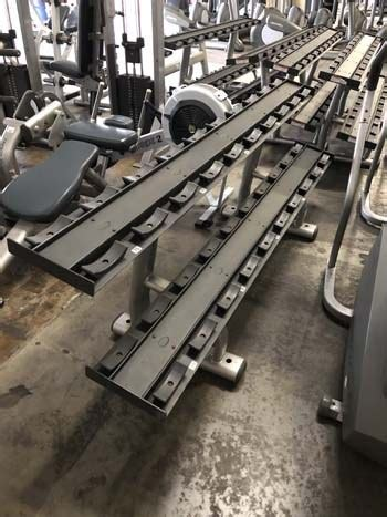 life fitness signature  tier dumbbell rack gym pros