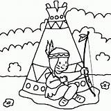 Coloring Pages Tipi Coloriage Template sketch template