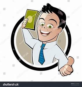 Cartoon Man Earning Or Saving Money Stock Vector ...