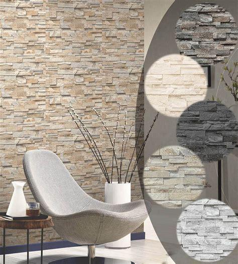 Wandgestaltung Mit Stein by Details Zu Steintapete 3d Vliestapete Stein Optik P S