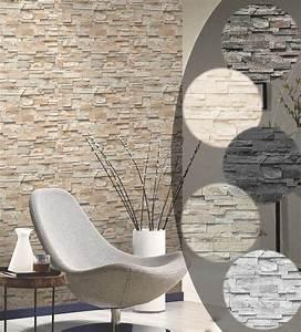 Steinwand Tapete 3d : steintapete 3d vliestapete stein optik p s einfach sch ner top preis 1 91 1qm in heimwerker ~ Eleganceandgraceweddings.com Haus und Dekorationen