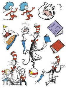 cat in the hat characters cat in the hat characters 12 x 17 window clings eu 836025