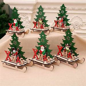 2020, New, Year, Decor, Santa, Snowman, Elk, Xmas, Sled, Ornaments, Christmas, Decorations, For, Home, Crafts