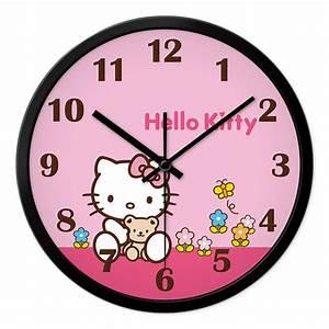 Clocks cute wall clocks oversized wall clock unique wall for Hello kitty wall clock target