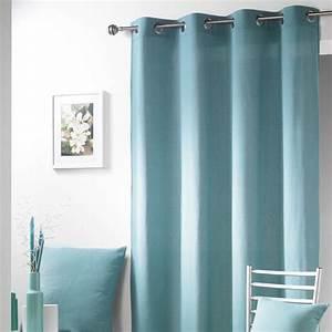 Double Rideau Bleu : rideau bleu celadon ~ Teatrodelosmanantiales.com Idées de Décoration