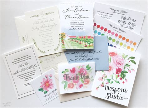 Sample Wedding Invitations Mospens Studio Custom Wedding