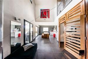 Hall Entrée Maison Moderne : villa moderne hall d 39 entr e contemporain grenoble par clonik art ~ Melissatoandfro.com Idées de Décoration
