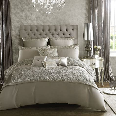 designer minogue at home quot quot silver bedding quilt duvet ebay