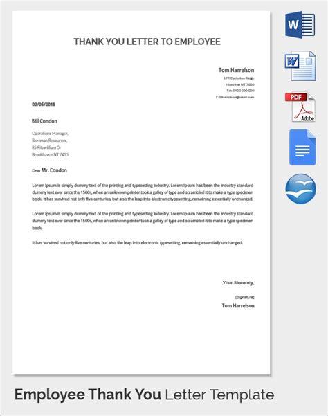 sample   letter  employer
