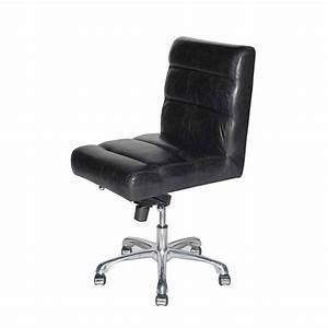 Leather office chair office furniture for Armless leather desk chair