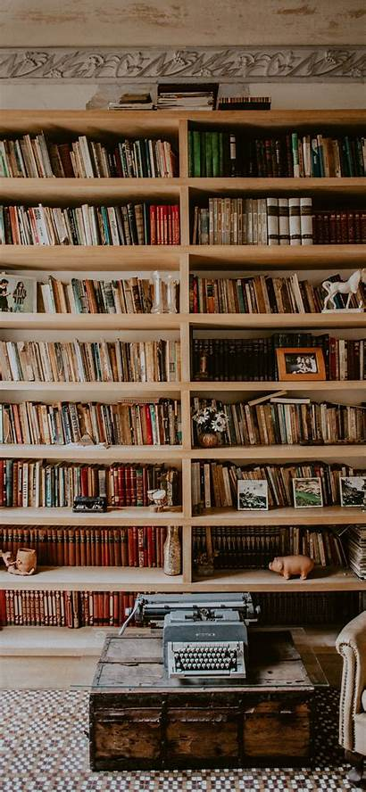 Iphone Bookshelf Brown Wooden Pro Wallpapers Bookcase