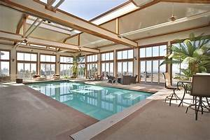 69 best swim spa rooms images on pinterest indoor pools for Indoor pool with retractable roof