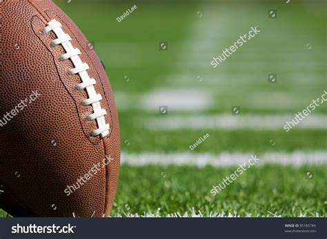 Pro American Football On Field Close Stock Photo 85165789