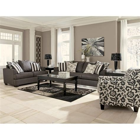 Levon Charcoal Sofa And Loveseat by Signature Design By Furniture Levon Microfiber Sofa