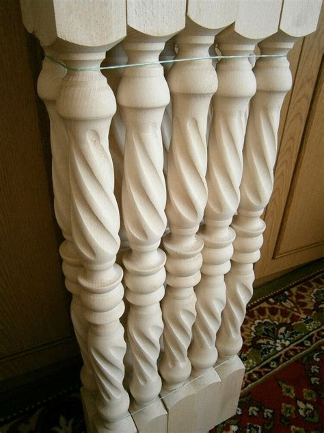 Banister And Baluster by Stair Balusters Spiral Twist Carved Wood Spindles