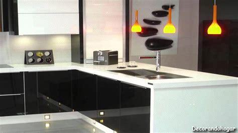 como decorar una cocina moderna  blanco  negro youtube