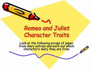 Romeo And Juliet Character Analysis Activity By