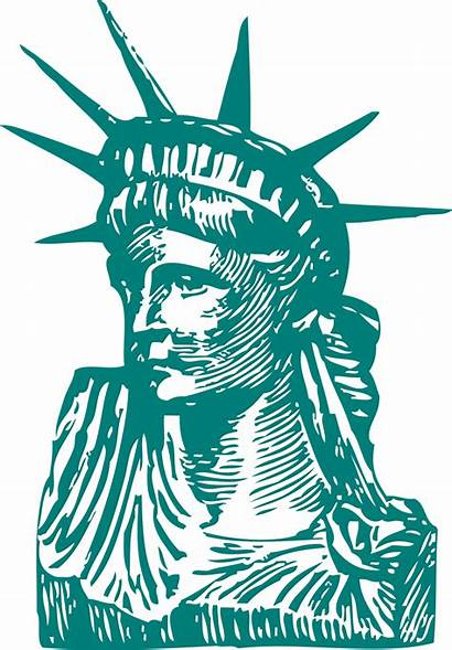 Liberty Statue Clipart Freedom Clip Illustration Drawing